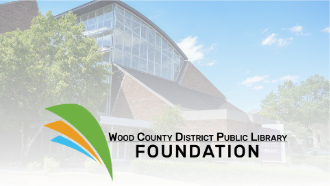 A photo of the BG Main Library with the WCDPL Foundation logo