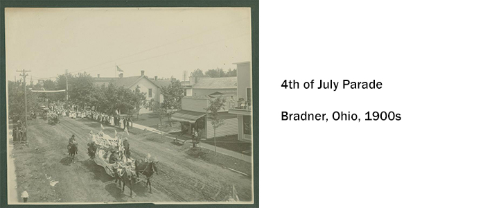 4th of July Parade, Bradner, OH 1900s