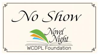 No Show Novel Night graphic with Novel Night logo