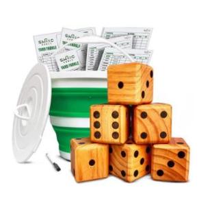 Yardzee with dice in a bucket