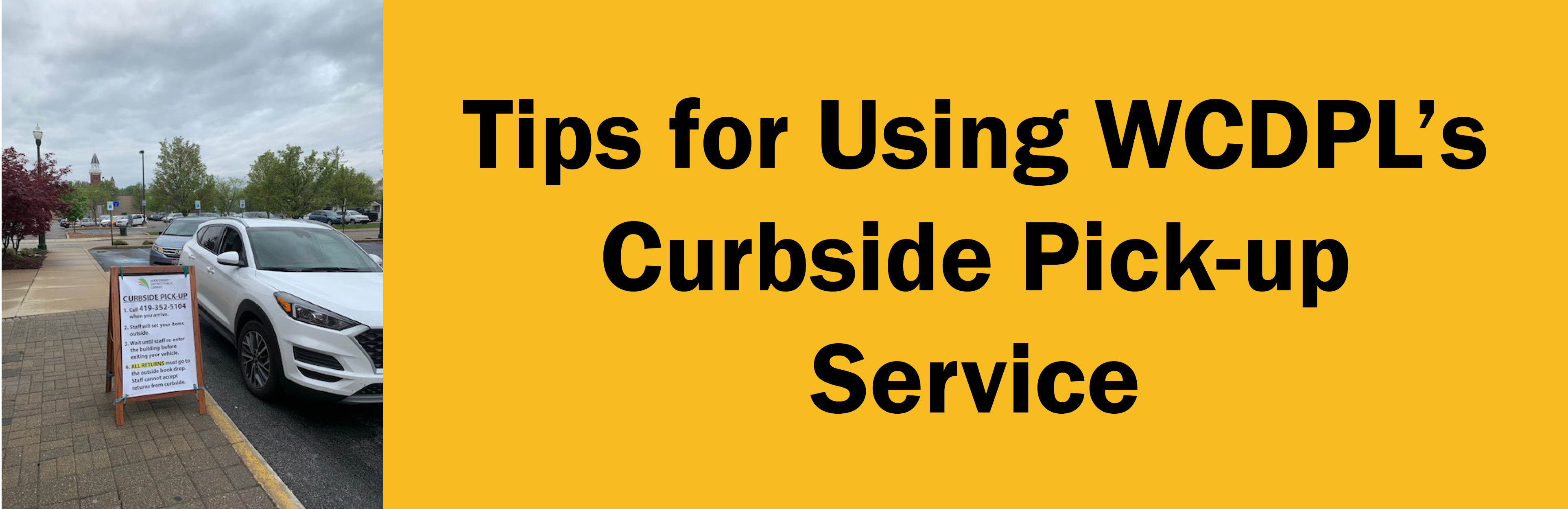 Curbside Service tips graphic